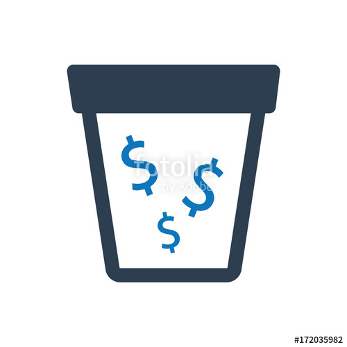 500x500 Money Drain Icon Stock Image And Royalty Free Vector Files On