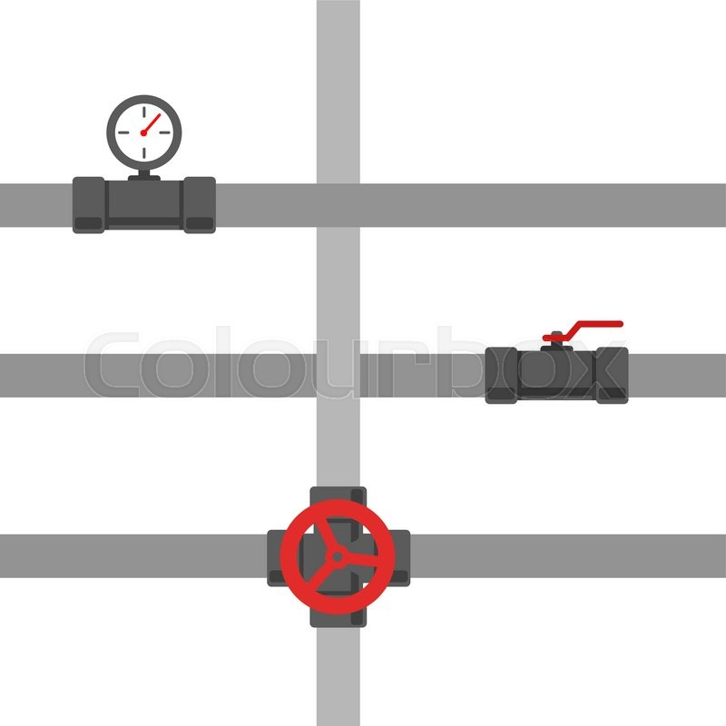 800x800 Pipe Fitting Vector Set. Pipeline Vector Illustration. Pipe