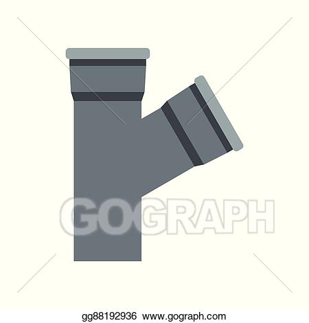 450x470 Sewer. The Man Was Put Out From The Water Drain Vector Clip Art