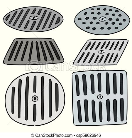 450x470 Vector Set Of Cover The Drain.