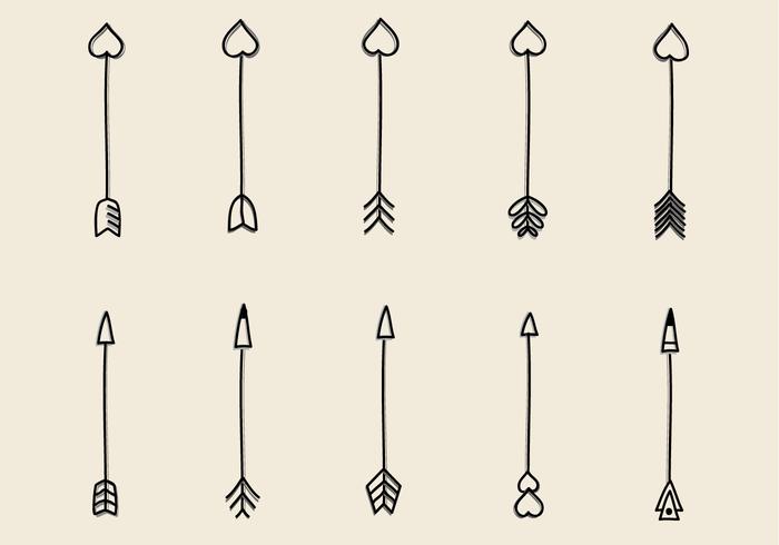 700x490 Hand Drawn Arrow Free Vector Art