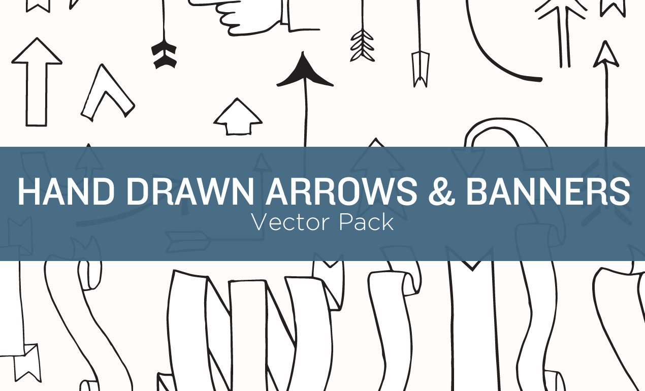 1270x770 Hand Drawn Arrow Vectors And Banner Elements