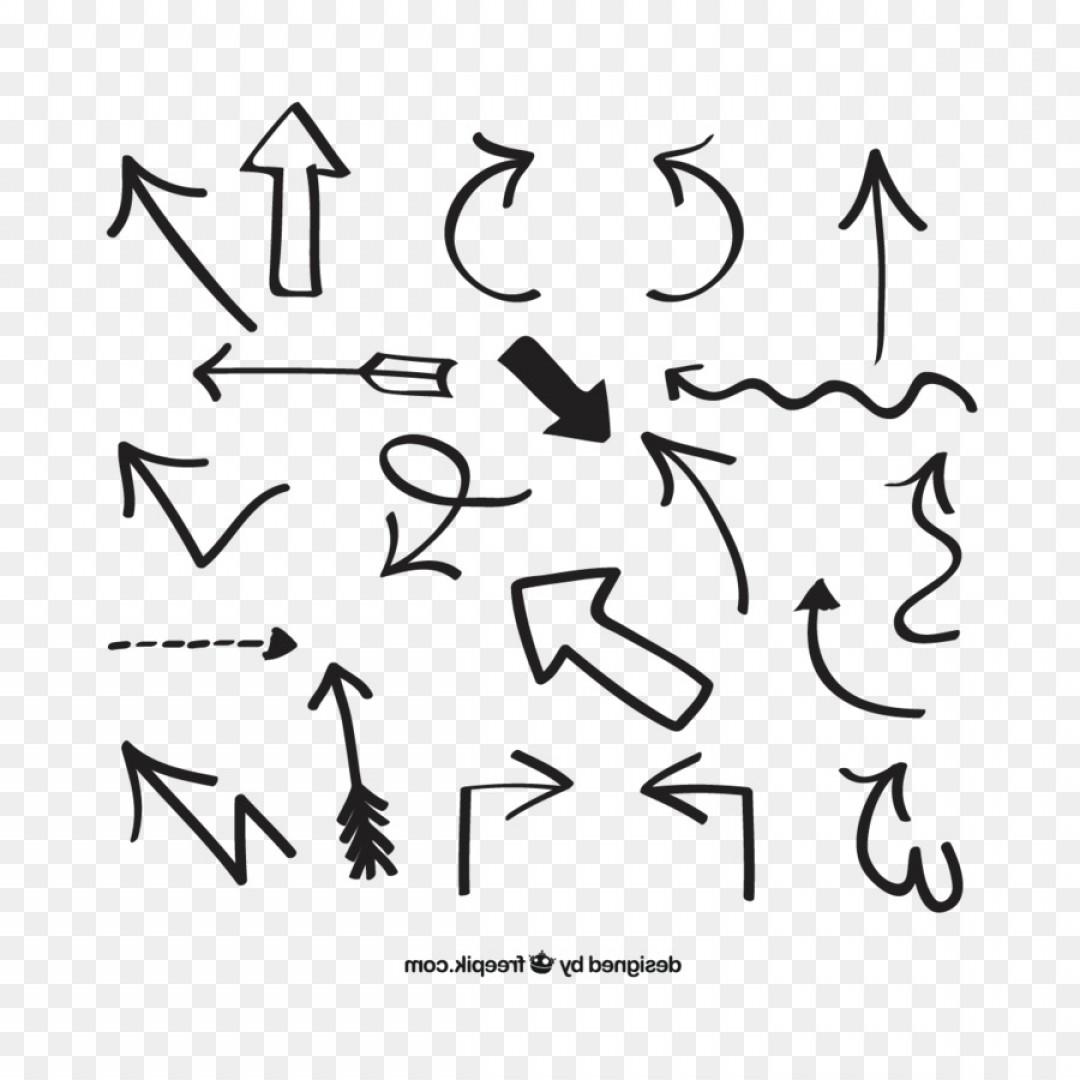 1080x1080 Png Arrow Euclidean Vector Vector Hand Drawn Arrows Arenawp
