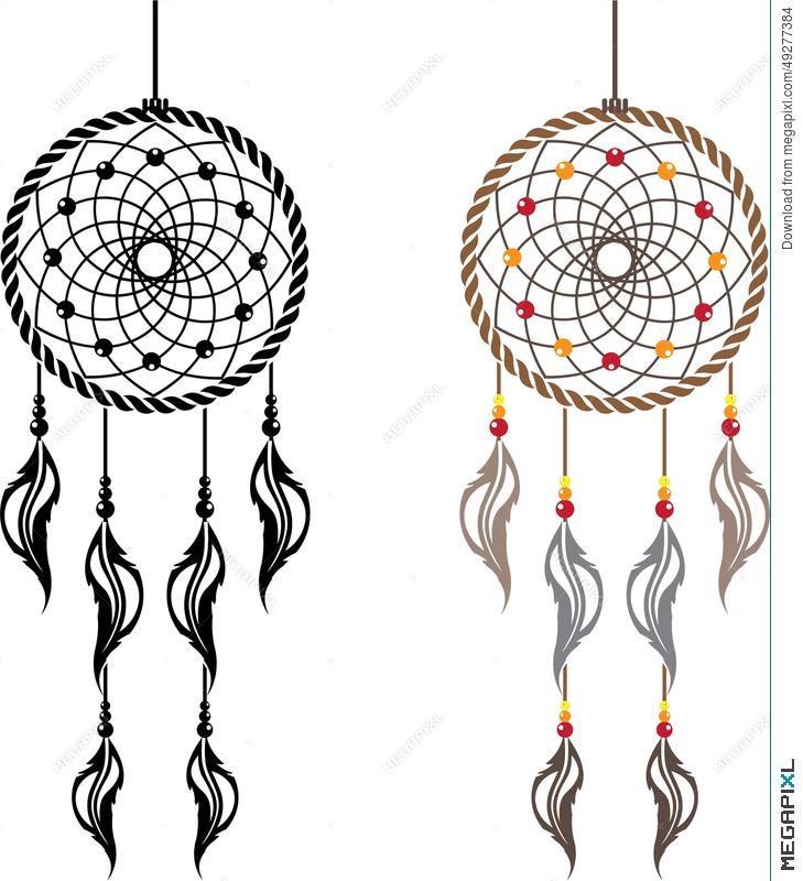 729x800 Dream Catcher Vector Illustration 49277384
