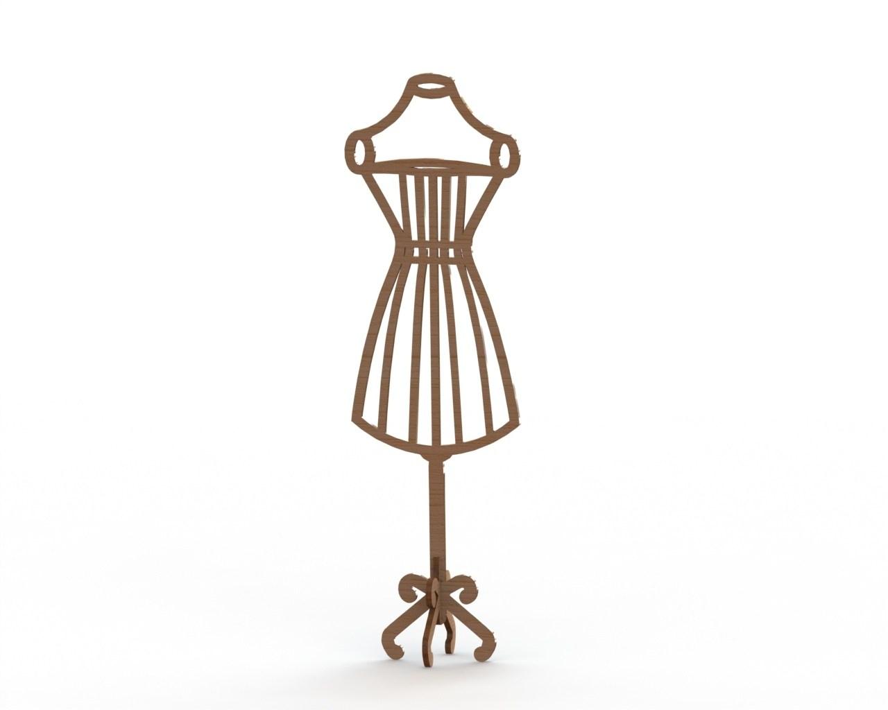 1280x1024 Dress Form Mannequin Mdf Laser Cut 6mm Download Free Vector For