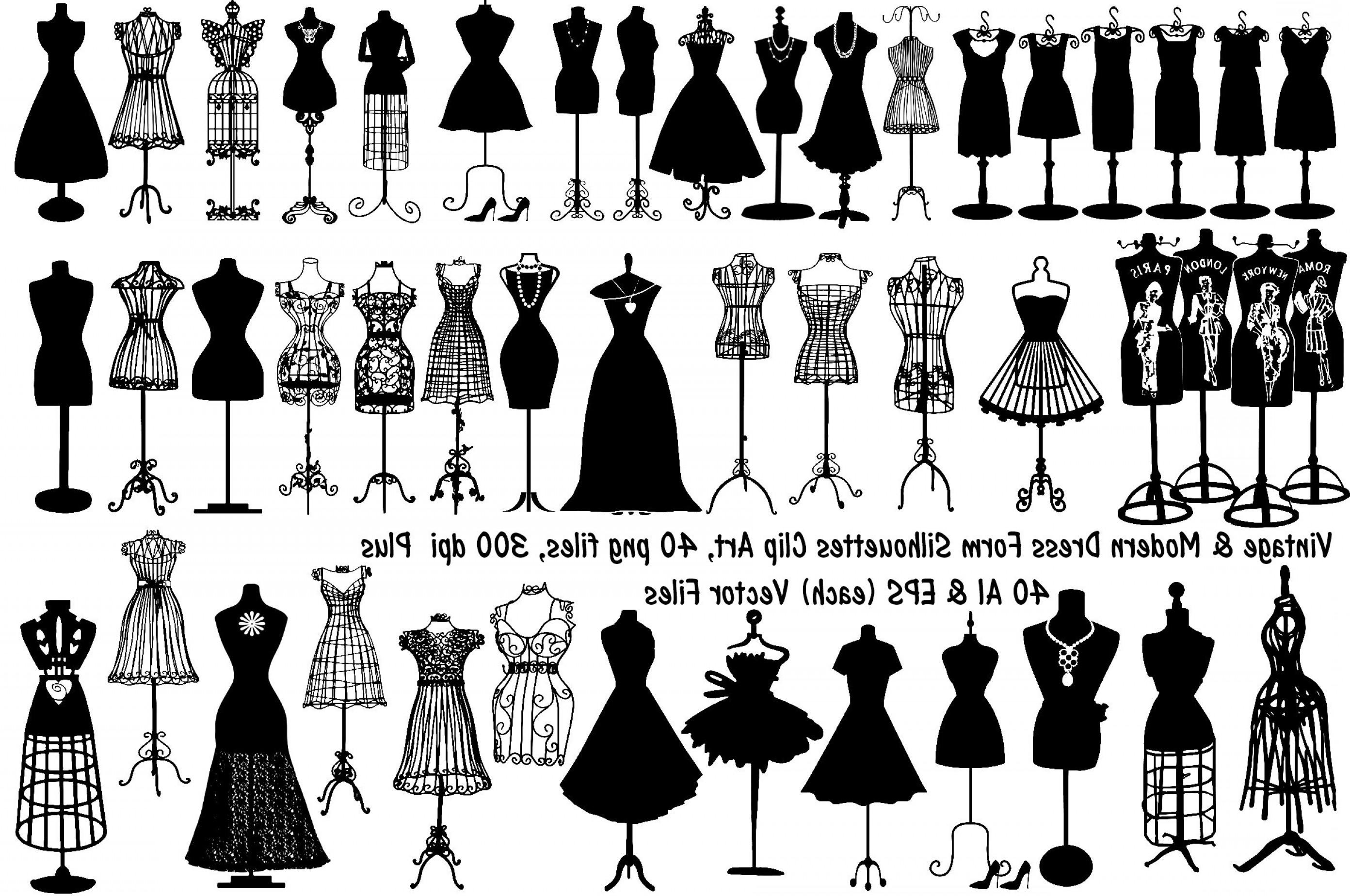 2784x1849 Dress Form Silhouettes Ai Eps Png Shopatcloth
