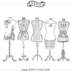 236x236 Fashion Clipart Vintage Mannequin