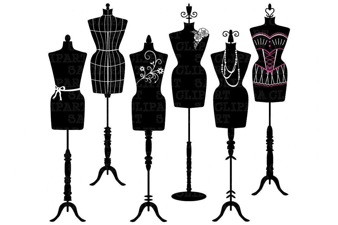 1160x772 Vintage Mannequin Dress Clipart Collection