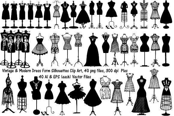 580x385 Wire Clipart Dress Form 7
