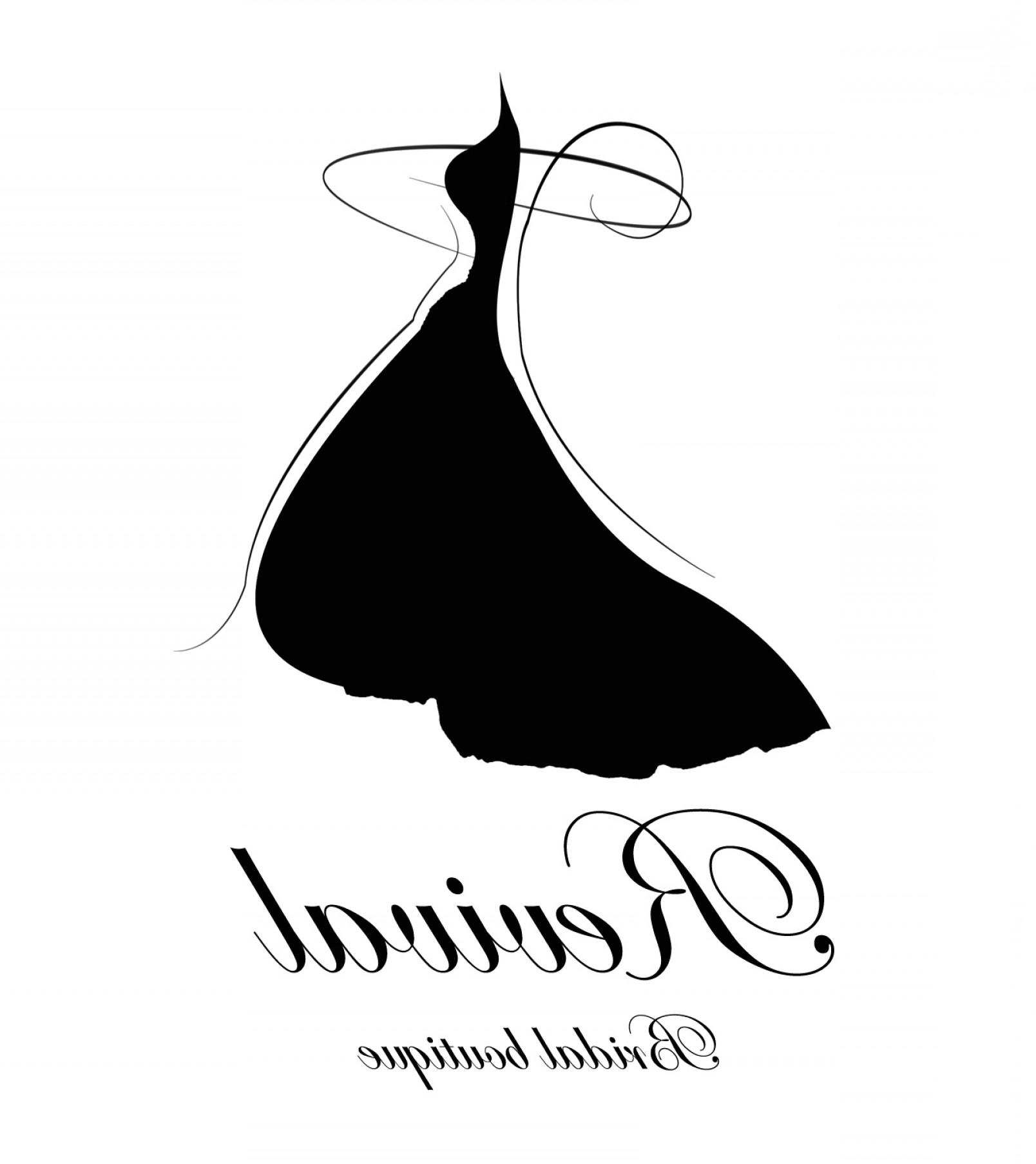 1608x1807 Wedding Dress Vector Unique Logo Design For Bridal Pany Brands Of