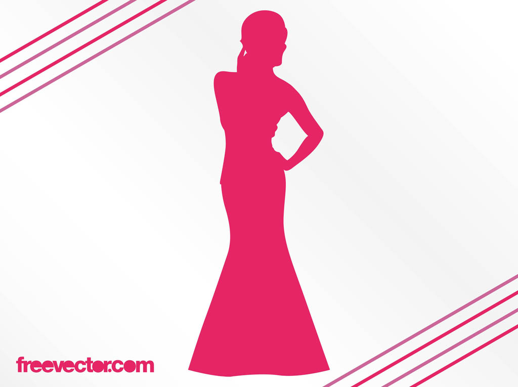 1024x765 Woman With Evening Dress Vector Art Amp Graphics