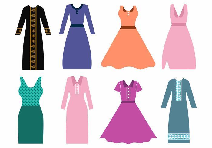 700x490 Women Dress And Abaya Vector