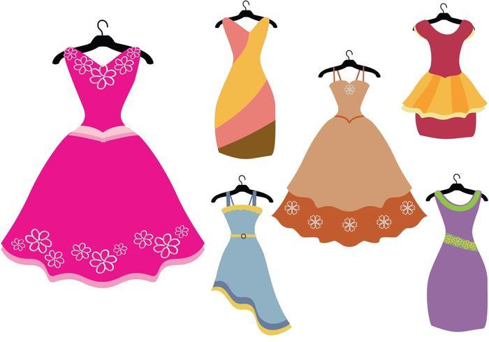 700x490 Colorful Fancy Dress Vectors