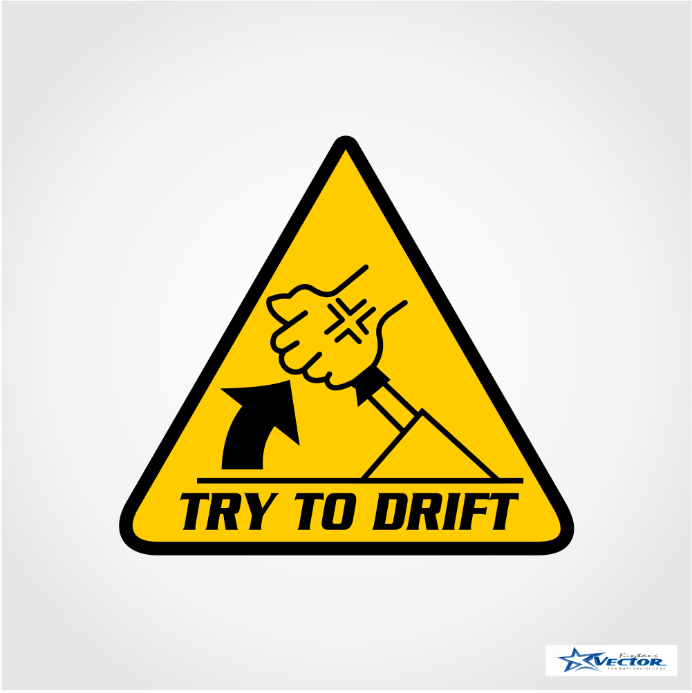 1001x1003 Try To Drift Logo Vector Cdr