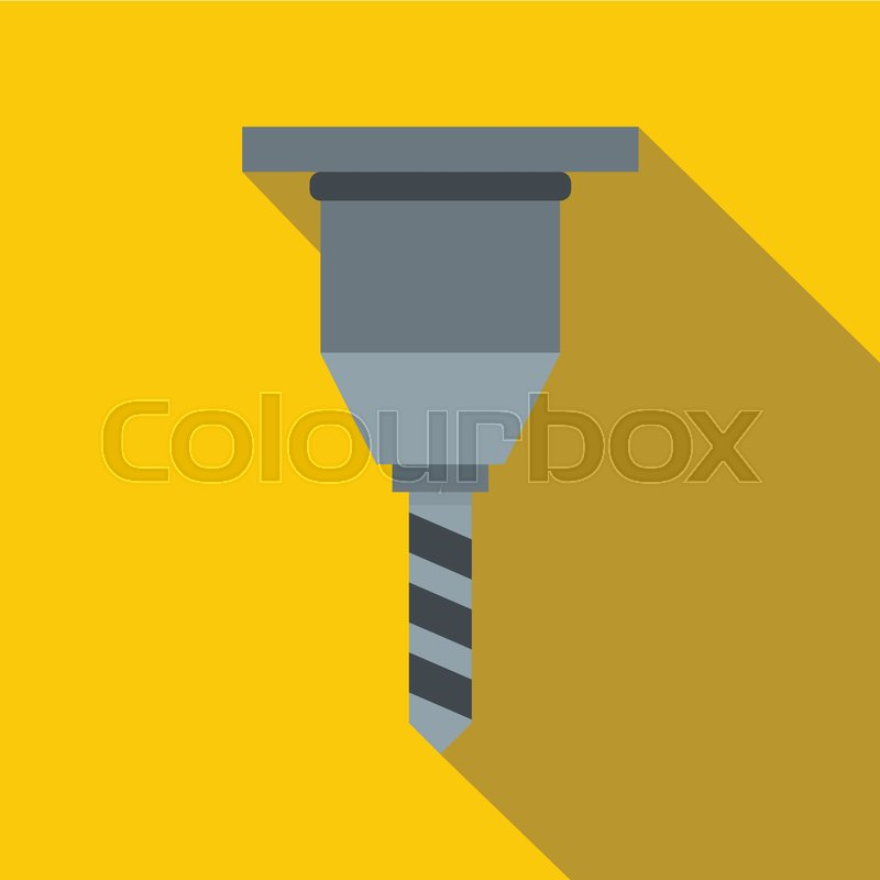 800x800 Drill Bit Icon. Flat Illustration Of Drill Bit Vector Icon For Web