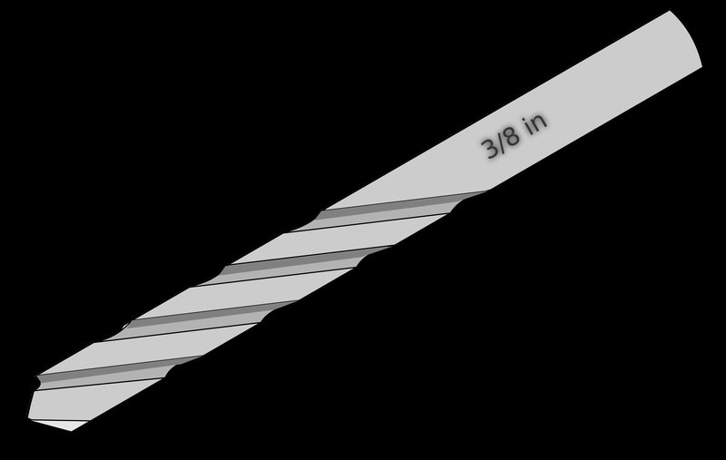 800x507 Drill Bit Vector Clipart Image