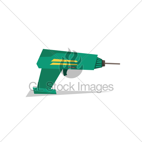 500x500 Electric Hand Drill Vector Illustration. Gl Stock Images