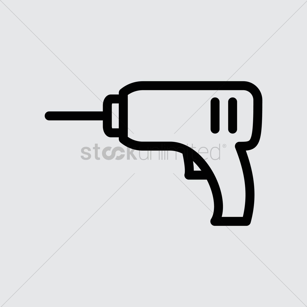 1300x1300 Electric Drill Vector Image