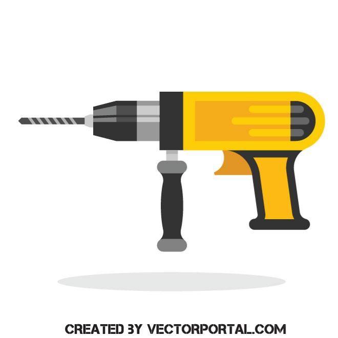 660x660 Hammer Drill Vector Image Various Vectors Hammer Drill