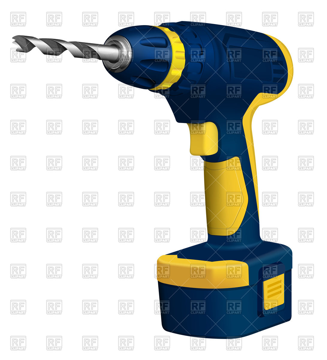 1091x1200 Realistic Cordless Drill Vector Image Vector Artwork Of Objects