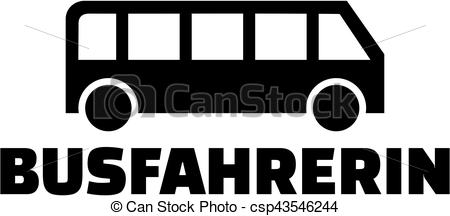 450x216 Female Bus Driver With Icon.