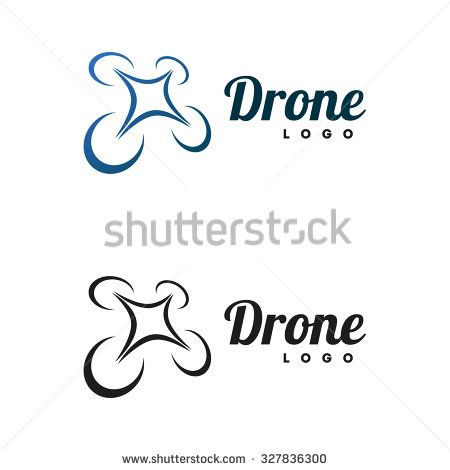 450x470 Drone Logo Isolated On White Background