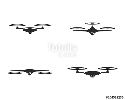 500x400 Drone Logo Vector Stock Image And Royalty Free Vector Files On