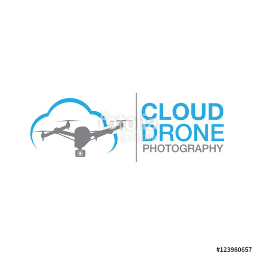 500x500 Drone Logo Icon Vector Template Stock Image And Royalty Free
