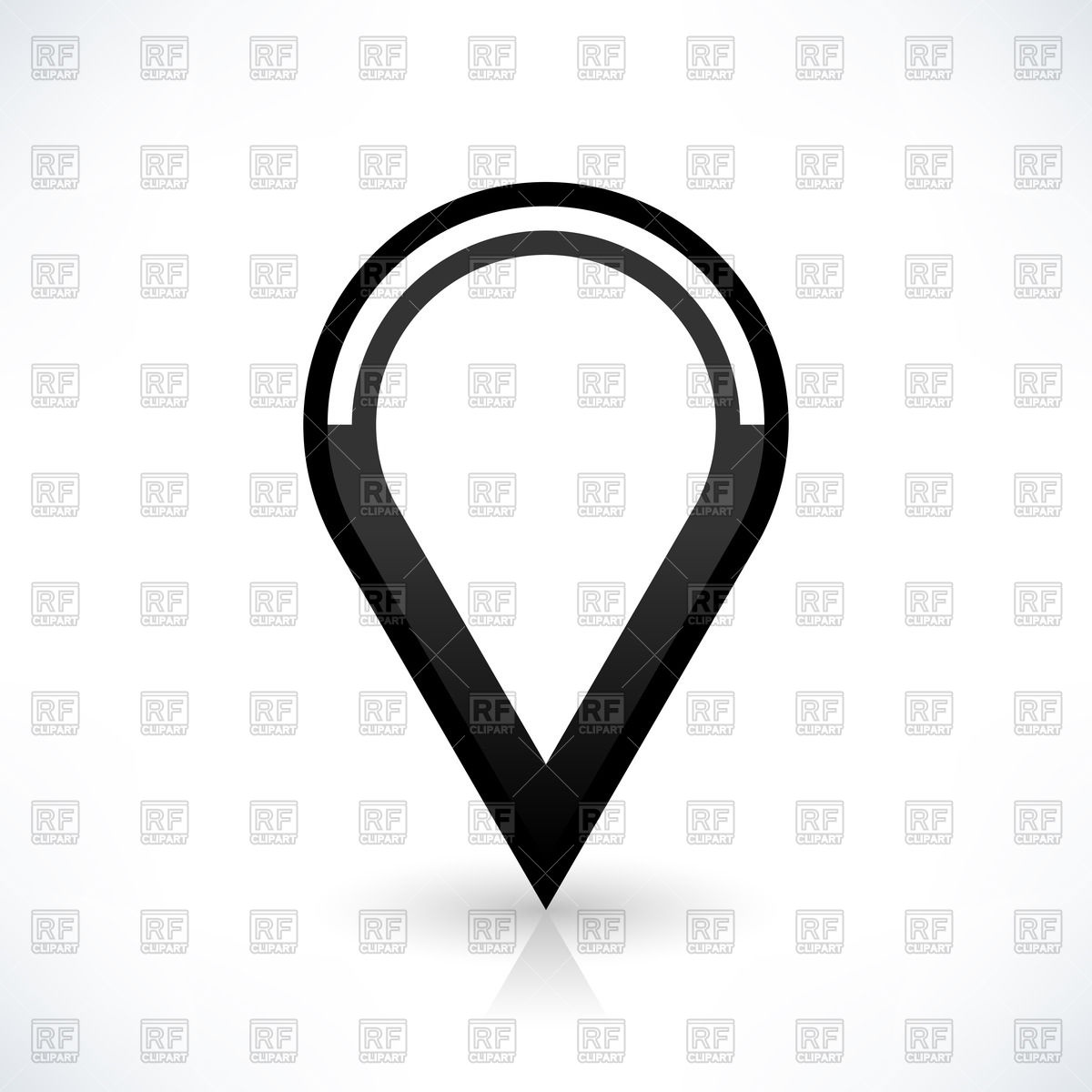 1200x1200 Drop Shaped Black Map Pin Vector Image Vector Artwork Of Icons
