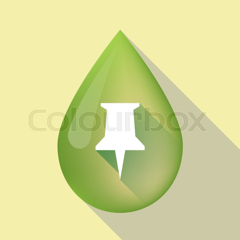 800x800 Illustration Of A Long Shadow Olive Oil Drop With A Push Pin