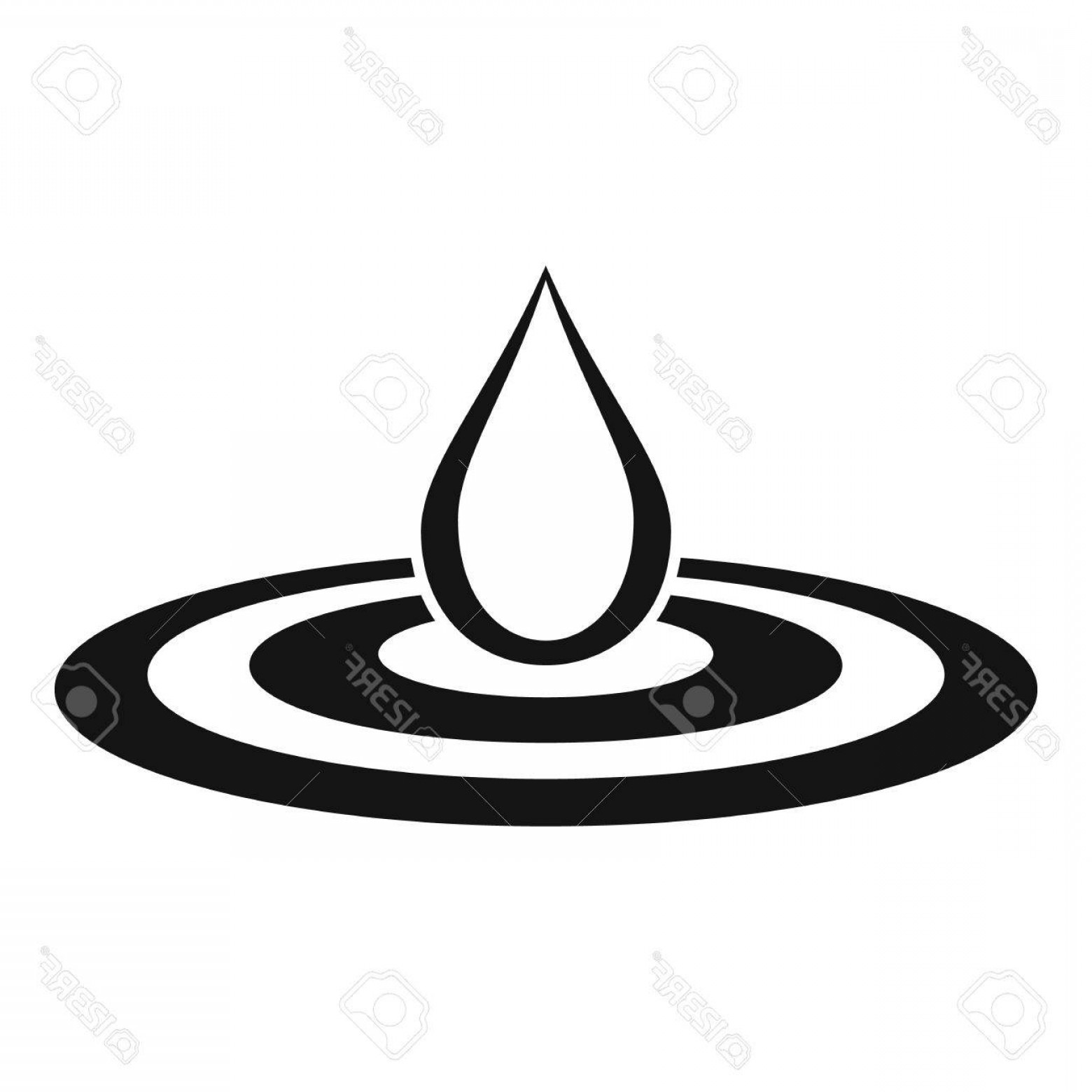 1560x1560 Photostock Vector Water Drop And Spill Icon Simple Illustration Of