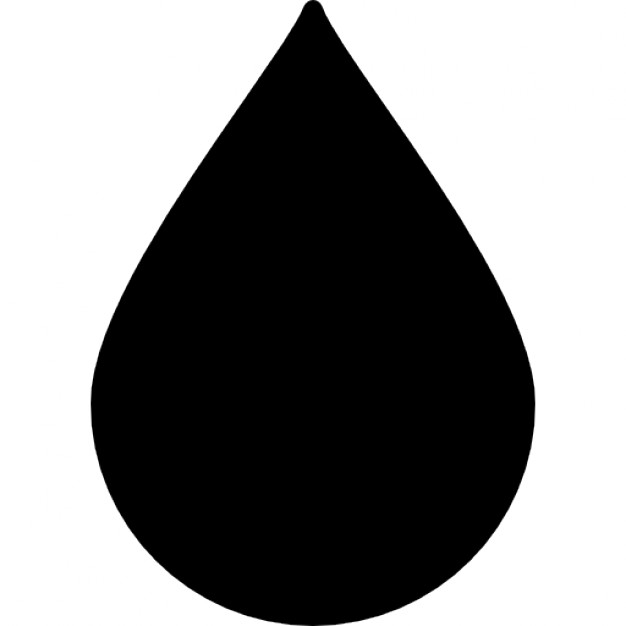 626x626 Water Droplet Silhouette Icons Free Download