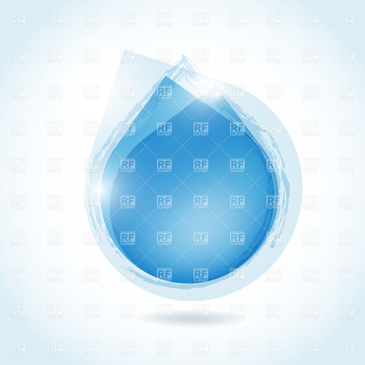 1200x1200 Blue Stylized Water Drop Vector Image Vector Artwork Of
