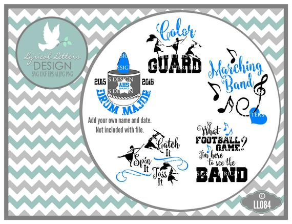 570x437 Marching Band Color Guard Drum Major Ll084 Vector Cutting Etsy