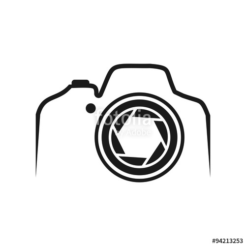 500x500 Dslr Camera Line With Lens Stock Image And Royalty Free Vector
