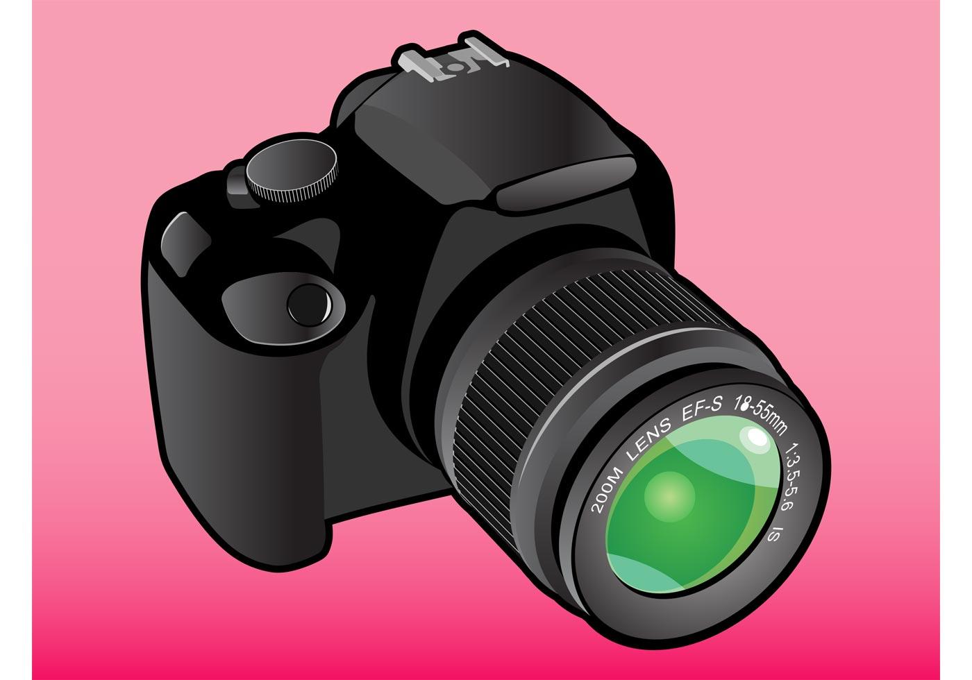 1400x980 Dslr Camera Free Vector Art