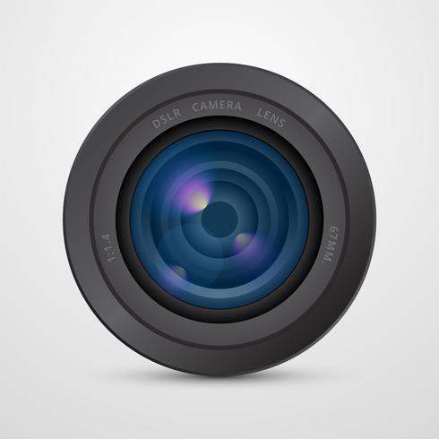490x490 Realistic Dslr Camera Lens Vector