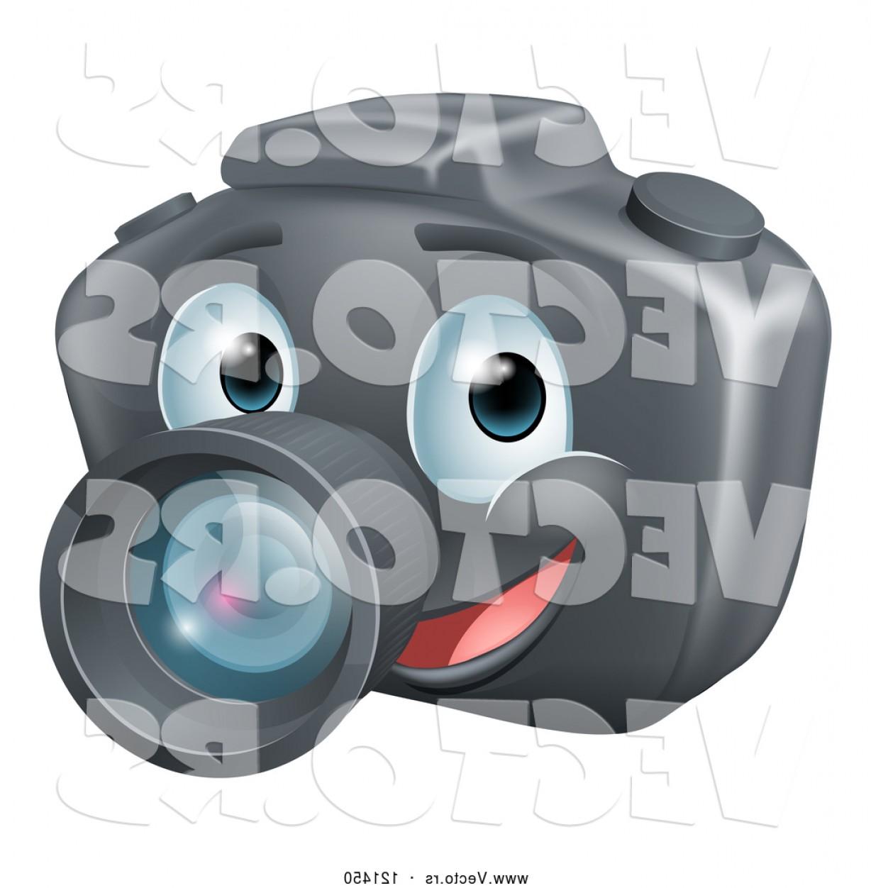 1228x1252 Vector Of Cartoon Smiling Happy Dslr Camera Mascot By