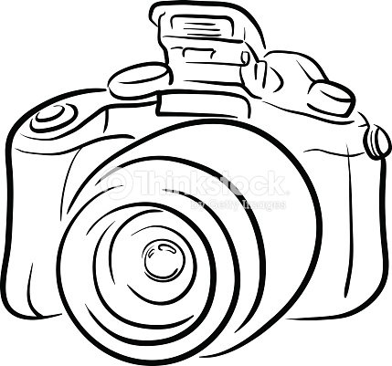 429x401 Collection Of Dslr Camera Line Drawing High Quality, Free