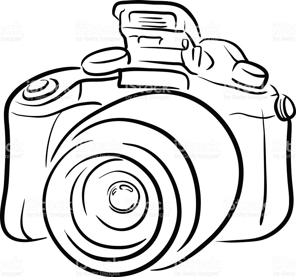 1024x958 Dslr Clipart Camera Sketch Free Collection Download And Share