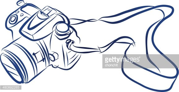 578x296 Free Hand Sketch Of Dslr Camera Vector Premium Clipart