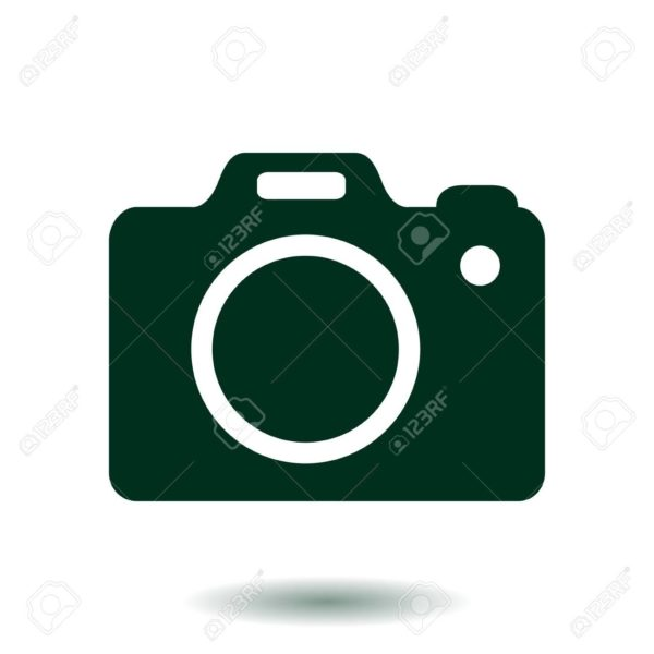 600x600 Photo Camera Symbol. Dslr Camera Sign Icon. Digital Camera. Flat