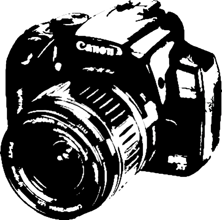 898x890 Canon Camera Dslr Vector By Hemhem21
