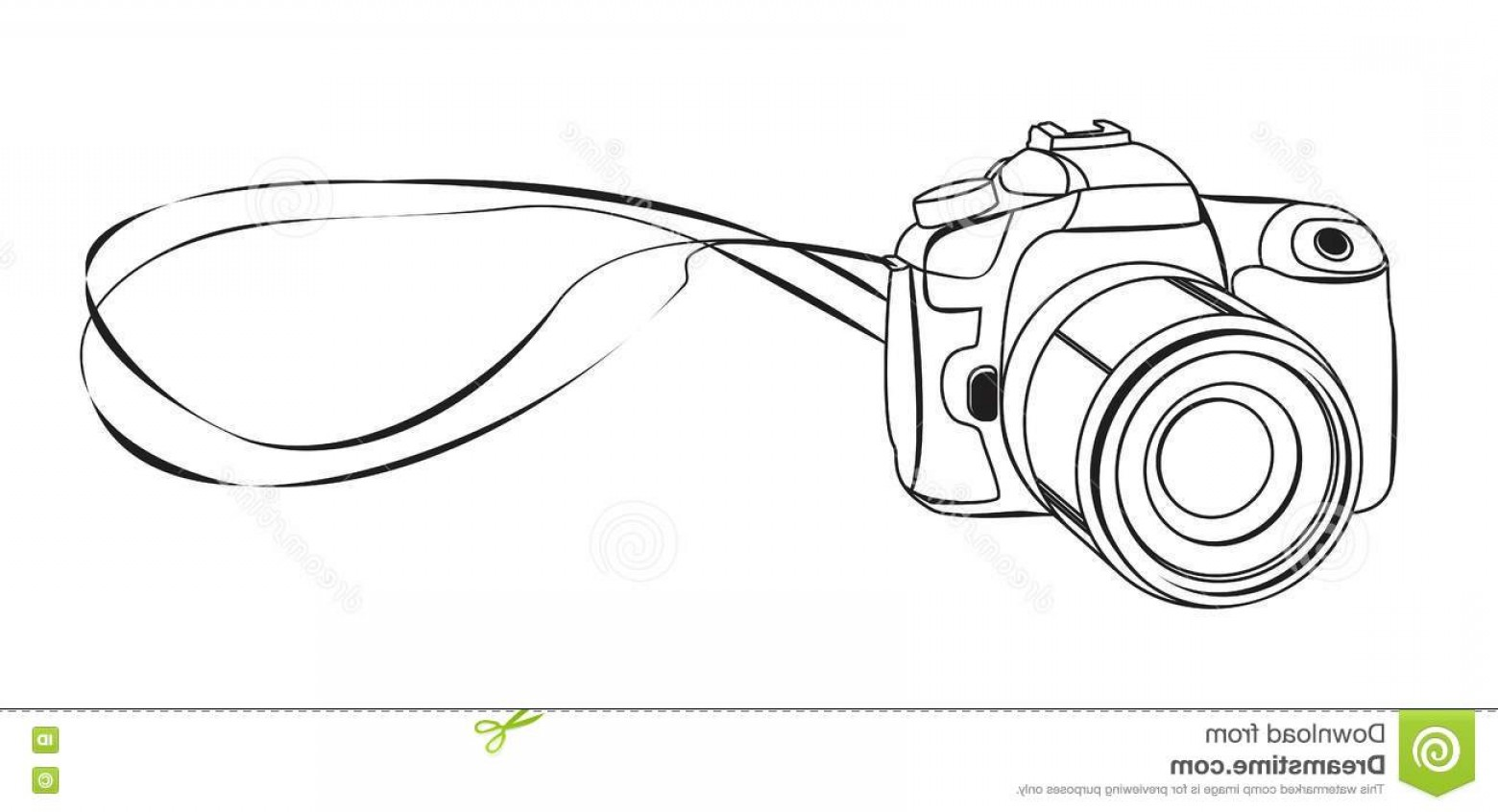 1560x846 Stock Illustration Sketch Dslr Camera Vector Illustration Image