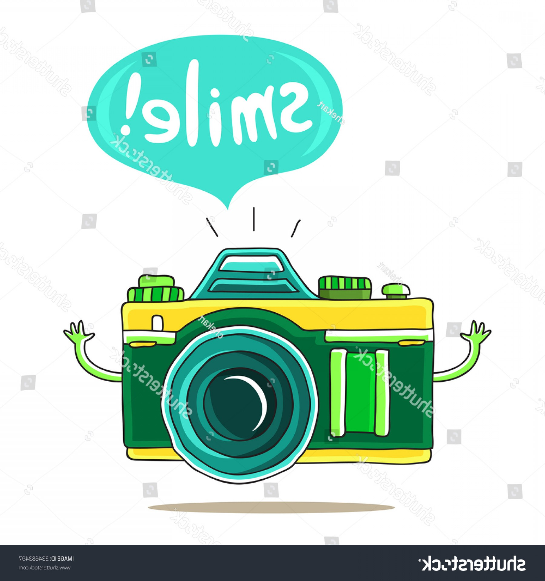 1800x1920 Cute Camera Inscription Bubble Smile Vector Orangiausa