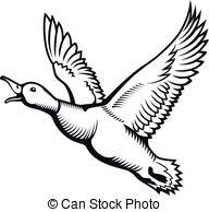 192x194 Flying Mallard Drake. Duck Hunting. Vector Wild Bird. Flat