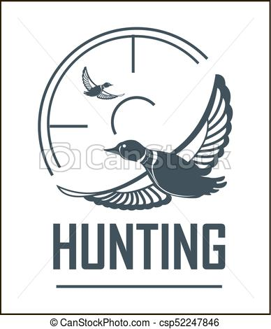 388x470 Hunting Club Vector Icon Hunt Adventure Duck Target Wild Animal