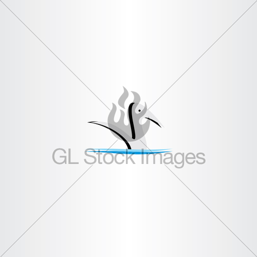 500x500 Duck In Water Logo Vector Sign Element Gl Stock Images