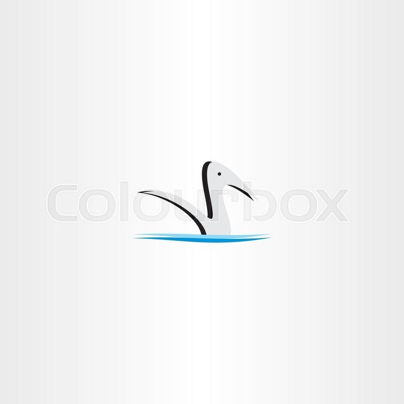 800x800 Duck In Water Logo Vector Sign Element Design Stock Vector