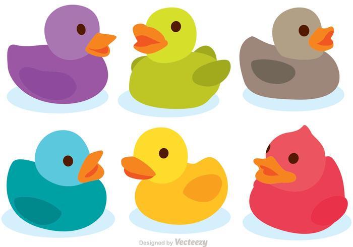 700x490 Colorful Rubber Duck Vectors